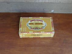 Tampa Nugget Cigar Box Vintage Sublines Storage by PopPawsPlace, $12.75