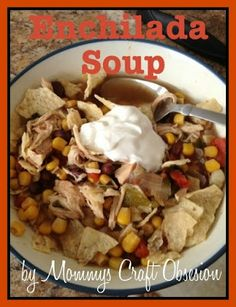 Thrifty Nifty Mommy: Easy Crock Pot Enchilada Soup