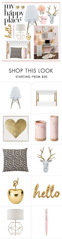 """""""My Happy Place"""" by lgb321 ❤ liked on Polyvore featuring interior, interiors, interior design, home, home decor, interior decorating, Oliver Gal Artist Co., M. Kennedy Home, Ghidini 1961 and Bombay Duck"""