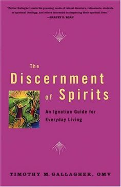 RECOMMENDED BY RCSPIRITUAL DIRECTION  The Discernment of Spirits: An Ignatian Guide for Everyday Living by Timothy M. Gallagher, http://www.amazon.com/dp/0824522915/ref=cm_sw_r_pi_dp_XSroqb0640RR5
