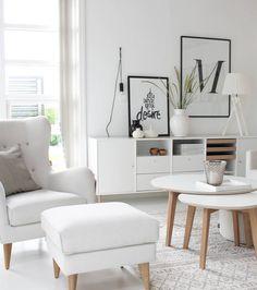 38 Stunning Scandinavian Living Room Design Ideas Nordic Style - Popy Home Nordic Living Room, Scandinavian Living, Home Living Room, Living Room Designs, Living Room Decor, Kitchen Living, Inspiration Design, Living Room Inspiration, Interior Inspiration