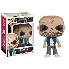 This is a Suicide Squad POP Diablo Vinyl Figure that is produced by Funko. With the new movie coming out, these villains are excited to get their own POP vinyls