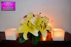 pantalla de vela para complemento de centro de mesa. aluzza. by aluzzaflick, via Flickr