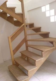 Afbeeldingsresultaat voor switchback stairs with winders Small Space Staircase, Attic Staircase, Loft Stairs, House Stairs, Staircase Design, Rustic Stairs, Wooden Stairs, Interior Stairs, Interior Design Living Room