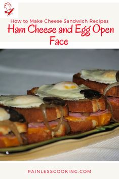 How to Make Cheese Sandwich Recipes Ham Sandwich Recipes, Egg Recipes, How To Cook Eggs, How To Make Cheese, How To Cook Everything, Beef Sliders, Large Skillet, Open Face, Ham And Cheese