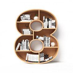 Corner Shelf Design, Bookshelf Design, Bookshelves, Bookcase, Diy Wood Shelves, Floating Shelves, 3d Foto, Funny Wall Art, Letter Wall Decor