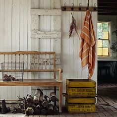 Reclaimed Wooden Rack in House+Home HOME DÉCOR Baskets+Utility Hooks+Hardware at Terrain