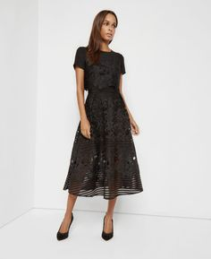 Layered lace midi dress