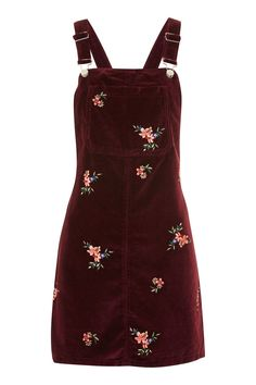 Designer Clothes, Shoes & Bags for Women Red Velvet Dress, Burgundy Dress, Dress Red, Red Long Sleeve Dress, Dress Long, Pinny Dress, Floral Embroidery Dress, Cute Outfits, Trendy Outfits