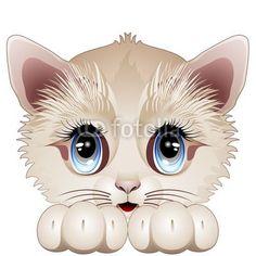 ☆SOLD!☆ #Cute #Kitten #Cartoon #Character - #Vector   http://it.fotolia.com/id/45269118#