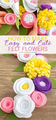 Learn how How to make Felt Flowers in an easy and fun way!
