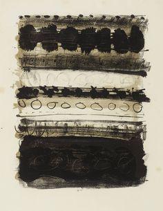 Patrick Heron Grey and Black Stripes 1958