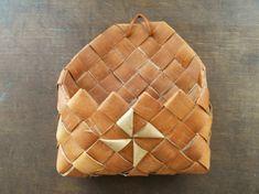Vintage Swedish basket Braided birch bark basket by TasteVintage, $15.00