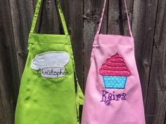 Personalized Kid Apron kid apron personalized apron by SewWhatFun