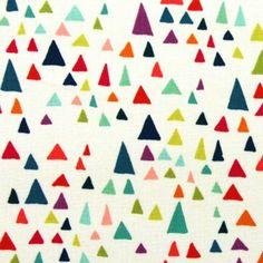 Fijne driehoeken wit