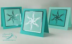 Flourished Snowflake Cards