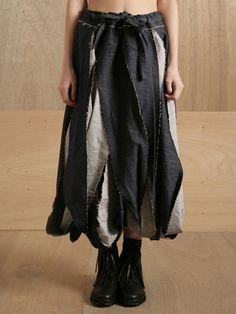 Yohji Yamamoto Women's Bias Twist Skirt - done with denim.