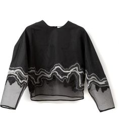 3.1 Phillip Lim Embroidered Geode Long Sleeve Top (€545) found on Polyvore
