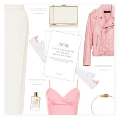 """""""In White & Pink"""" by monazor ❤ liked on Polyvore featuring Topshop, Monique Lhuillier, Piel Leather, adidas Originals, Sinclair and modern"""