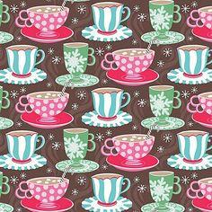 Sugar Rush Fabric Christmas Candy Christmas Xmas Holiday Cups of Comfort Multipatterned Coffee Mugs