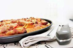 BBQ Pizza [ohne Hefe]