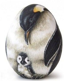Rock Painting Peguin