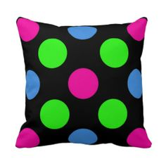 Polka Dot Square Pillow