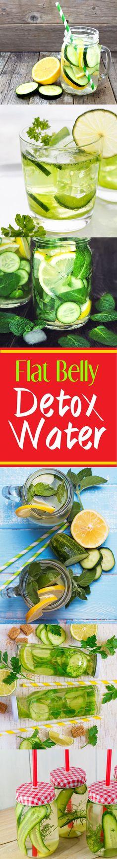 cucumber-lemon flat belly detox water