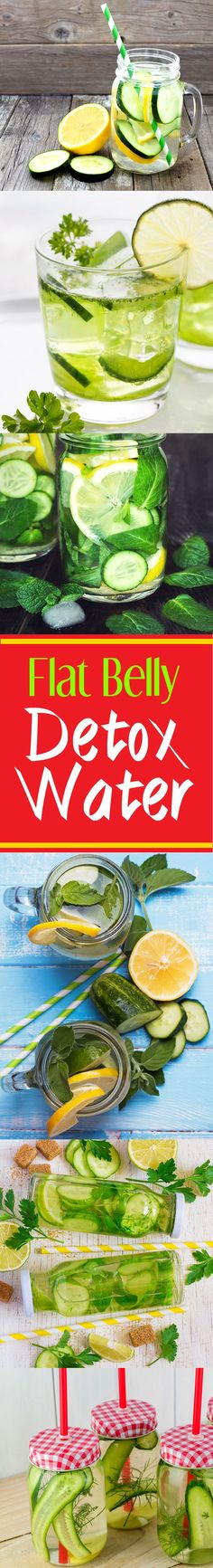 cucumber-lemon flat belly detox water
