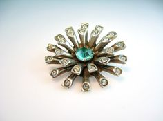 Sea Anemone Brooch Vintage 1940s Green by bohemiantrading on Etsy #vintage #jewelry #etsy #retweet