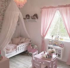 Interior Design and Home Decor Ideas Princess Bedrooms, Toddler Rooms, Kids Room Design, Little Girl Rooms, Baby Room Decor, Dream Rooms, Girls Bedroom, Room Ideas, Curtain Ties