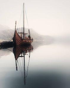 Vikings ⚔️ TAG someone that would love this 😍 Sandane, Norway 🇳🇴 photo by Vikings Art, Viking Aesthetic, Viking Character, Norwegian Vikings, Norway Nature, Nature Landscape, Viking Ship, Its A Mans World, Jolie Photo