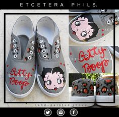 customized betty boop shoes!