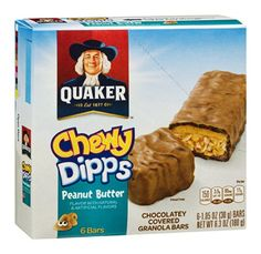 Quaker Chewy Dipps Peanut Butter Chocolatey Covered Granola Bars  65 OZ Pack of 12 >>> More info could be found at the image url. (This is an affiliate link and I receive a commission for the sales)