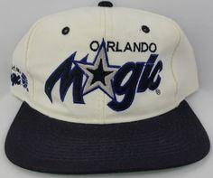 278d37d014a Orlando Magic Vintage Snapback Sports Specialties Script Hat NBA Starter  Cap Snapback