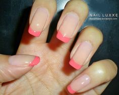 Barry M Nude Play It Coral Pink Tips. Nail Luxxe