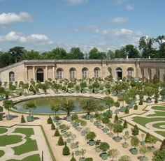 View of the Orangerie of the Versailles Palace, designed by architect Jules Hardouin-Mansart.