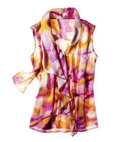 Jones New York Silk Top #florals