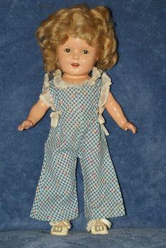 "Vintage 13"" Shirley Temple Composition Doll Wearing Her Original Jumper"