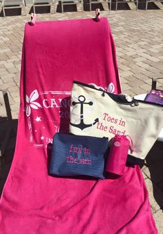 The perfect beach set-up! Thirty One Gifts Canvas Tote... Oh-Snap Pockets and Bring a Bottle thermal. Join my FB. group,a place for my Customers and new future Customers! NO 31 Consultants please! Thanks https://www.facebook.com/groups/221123648035423/