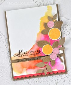 Many Blessings Card by Dawn McVey for Papertrey Ink (August 2015)