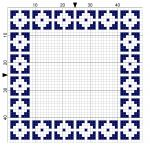 Inverted Squares Cross Stitch Border - by StitchMeKnot.com