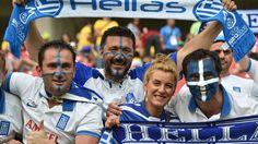 Greek fans cheer
