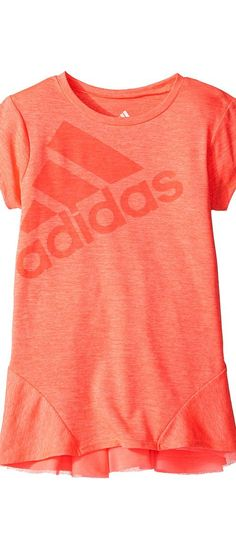 adidas Kids Performance Melange Top (Big Kids) (Bright Red) Girl's Clothing - adidas Kids, Performance Melange Top (Big Kids), AA4379-629, Apparel Top General, Top, Top, Apparel, Clothes Clothing, Gift, - Street Fashion And Style Ideas