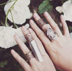 bohemian rings hands