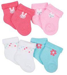 NWT Blue Gray Stripes GERBER Newborn Baby Boy/'s 3-Pack Cotton Ankle Socks