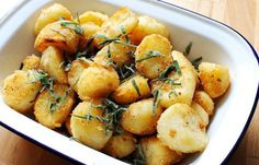 Roast potatoes - crispy on the outside and fluffy on the inside