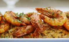 Mary Berry marinated harissa prawns with spiced rice recipe on Mary Berry Everyday