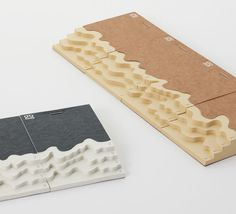 Topography notepads that use the number of sheets to make different levels. (by drill design)