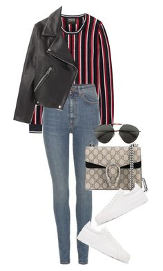 Untitled #4160 by lily-tubman on Polyvore featuring polyvore, fashion, style, Markus Lupfer, Acne Studios, Yves Saint Laurent, Jil Sander, Gucci, Valentino and clothing